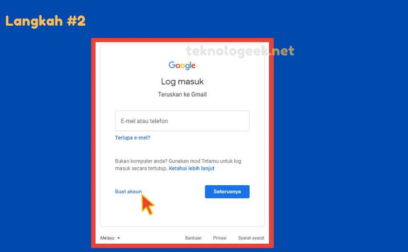 daftar akaun gmail baru