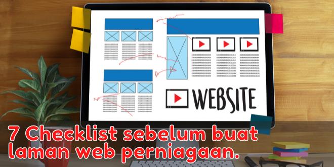 buat laman web perniagaan.